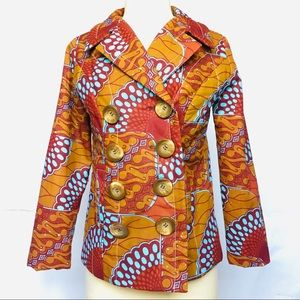 Tracy Feith African Print Vintage Retro Jacket - 2